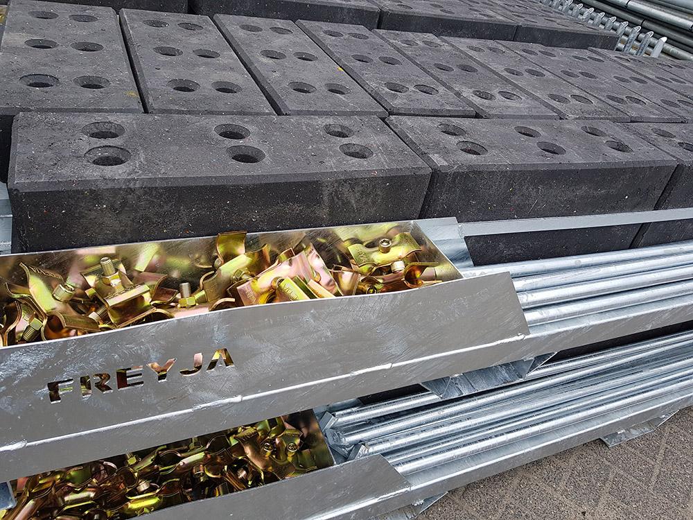 Fencebox bouwhekken vervoeren Freyja Bouw